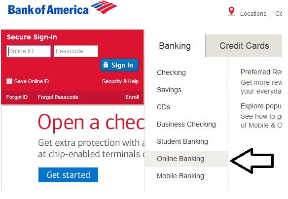 Bank Of America Online Login Bank Of America Online Banking