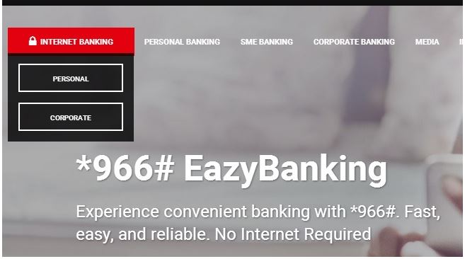 Zenith Bank Online login home