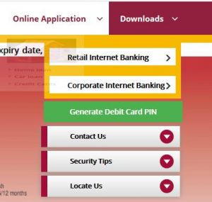 Punjab National Bank Online Login home page
