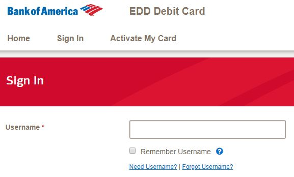 Bank of America EDD Login and Reset