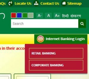 Punjab and Sind Bank online login home page
