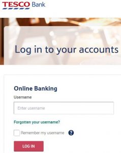 Tesco Online Banking Login and Reset