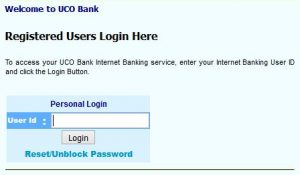 UCO bank online login