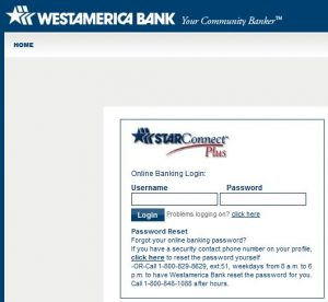Westamerica Bank online login