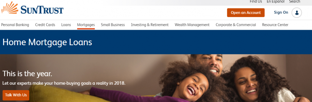 Suntrust Mortgage Bank Login