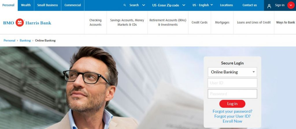 BMO Harris Bank Online Banking Login