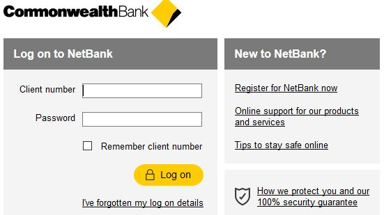 Login to CommonWealth Bank