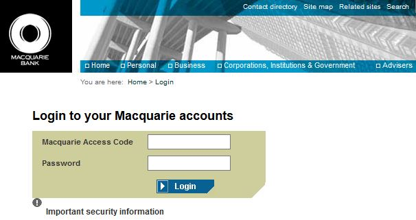Macquarie Bank Online Banking Login