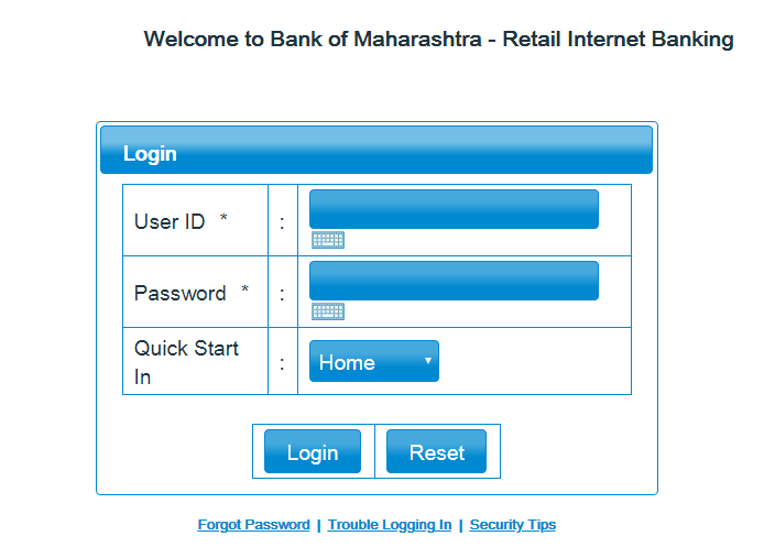 Bank of Maharashtra Login