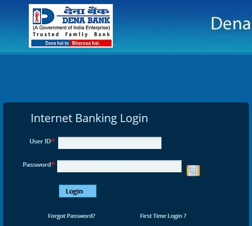 Dena Bank Online Banking Login