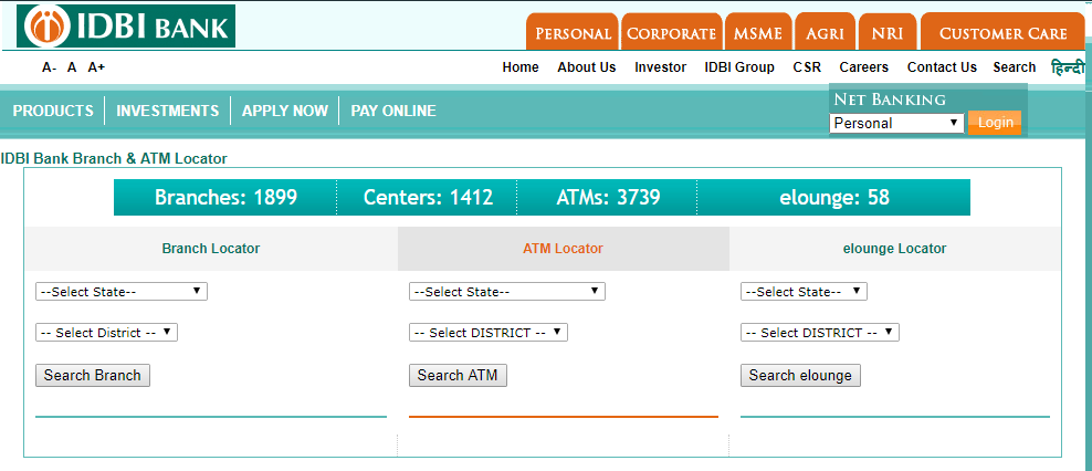 IDBI Bank Location Near You