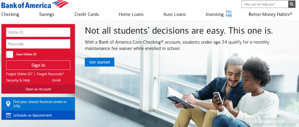 Bank Of America Login Issues